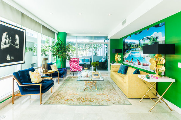 Eclectic Living Room by Stewart Rodriguez