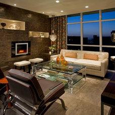 Contemporary Living Room by Megan Crane Designs, Inc.