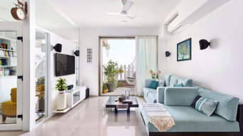 All-white Mumbai apartment