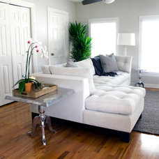 Transitional Living Room by Ashmara Designs