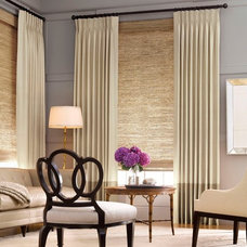 Modern Living Room by Alluring Window NYC- Window Treatments