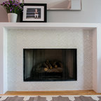 New Vintage Transitional Living Room Calgary by