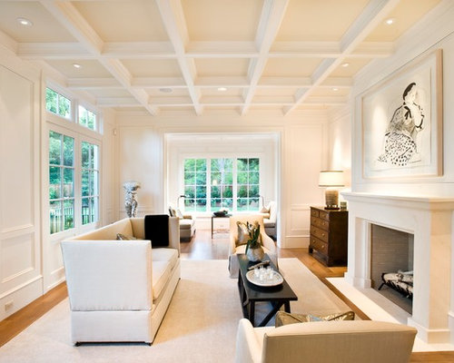 White Coffered Ceiling Ideas Pictures Remodel And Decor