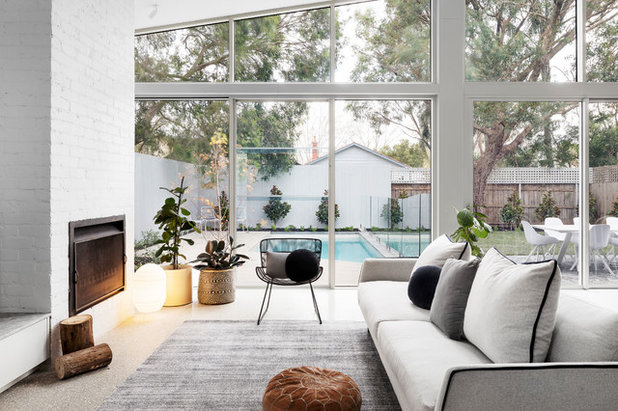 Contemporary Living Room by BuildHer Collective