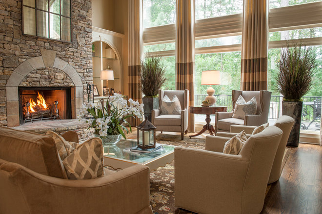 Traditional Living Room by Regas Interiors, LLC