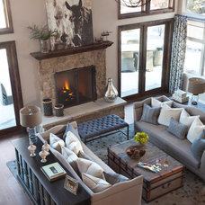 Transitional Living Room by Ashley Campbell Interior Design