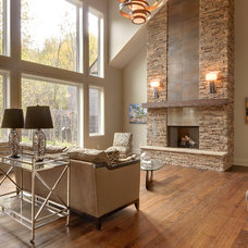 Contemporary Living Room by Solcorp Developments
