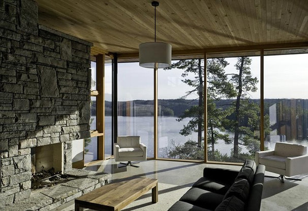 Modern Living Room by Altius Architecture, Inc.