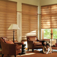 Traditional Living Room by Home Source Custom Draperies & Blinds
