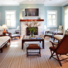 Beach Style Living Room by moment design + productions, llc