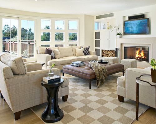 Living room layout home design ideas pictures remodel for Large living room layout ideas