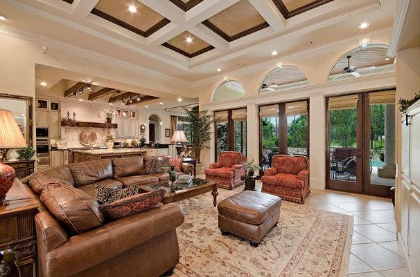 Mediterranean Living Room by 41 West
