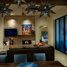 Southwestern Living Room by Link Architecture, PC