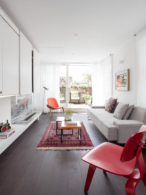 Narrow living room home design ideas pictures remodel for Long narrow living room design