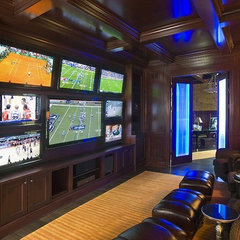 traditional media room by Orren Pickell Building Group