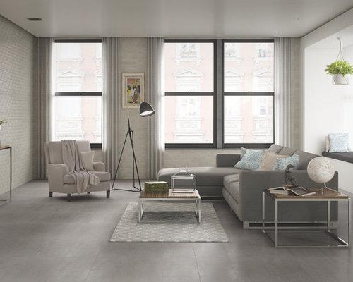 Moderne wohnzimmer mit vinyl boden ideen design bilder - Boden wohnzimmer ...