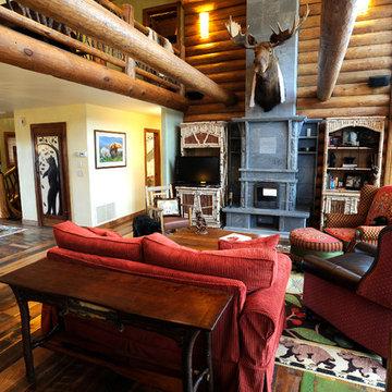 American Ranch Log Home