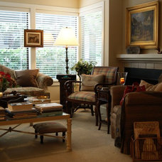 Traditional Living Room American Southwest meets English Country in a Pacific Northwest Condo