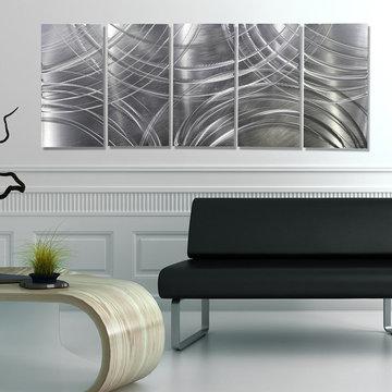 Amplify - Silver Modern Metal Wall Art Contemporary Wall Sculpture