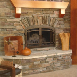 Orange County Brick Fireplace Surround Living Room Design Ideas Pictures Re
