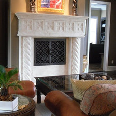 Mediterranean Living Room by AMS Fireplace, Inc.