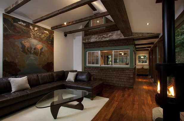 Rustic Living Room by Amy A. Alper, Architect