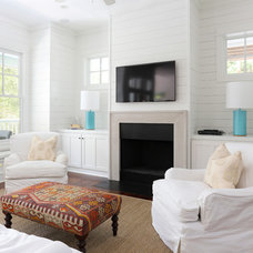 Beach Style Living Room by Matthew Bolt Graphic Design