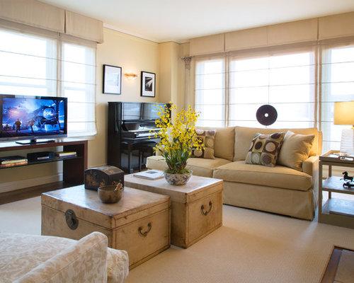 Transitional Living Room Idea In San Francisco