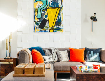 An Eclectic Family Room