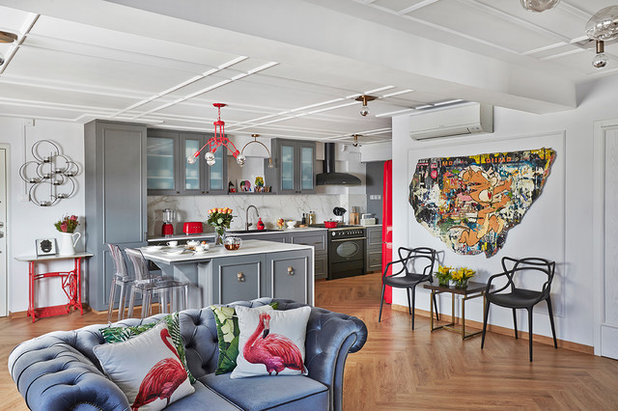 Eclectic Living Room by Three-d Conceptwerke