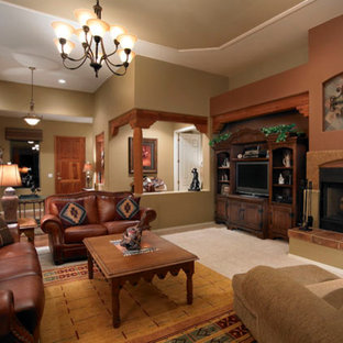 Native American Inspired Living Room Traditional Idea In Phoenix