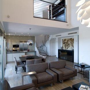 Living Room   Contemporary Open Concept Living Room Idea In Tel Aviv