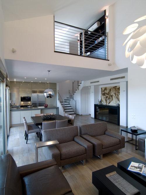 Elegant Contemporary Open Concept Living Room Idea In Tel Aviv Part 5