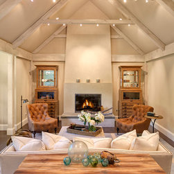 Seattle Cathedral Ceiling Living Room Design Ideas