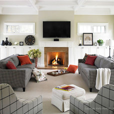 Contemporary Living Room by K West Images, Interior and Garden Photography