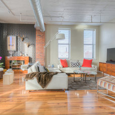 Industrial Living Room by + Modern Design