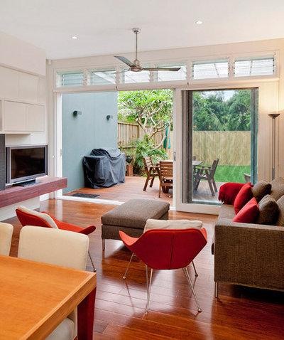 Modern Living Room by mcrae + lynch interior design