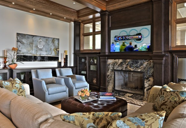 Traditional Living Room by Andrea Braund Home Staging & Design