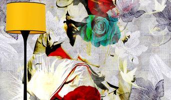 Angel Among Roses Mural Design by ATADesigns