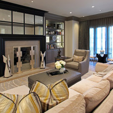 Transitional Living Room by Design House, Inc
