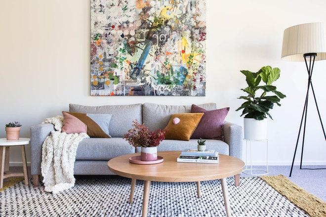 Scandinavian Living Room by The Den Interiors