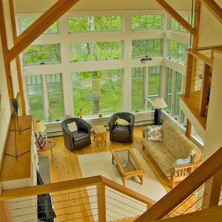 Klassisches Wohnzimmer in Portland Maine
