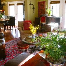 Tropical Living Room by Anita Diaz for Far Above Rubies