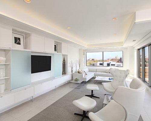 Hidden tv cabinet home design ideas pictures remodel and decor - Secret keys contemporary living room design ...
