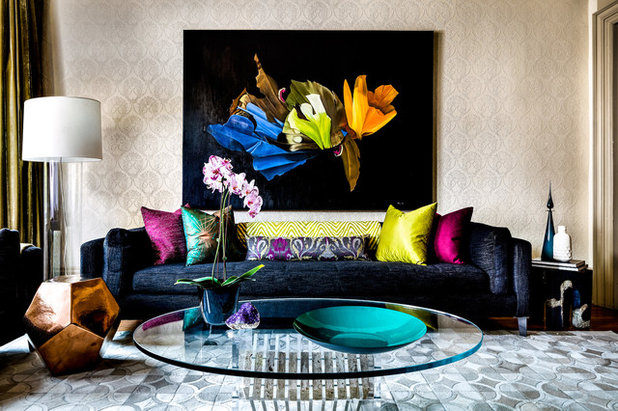 Eclectic Living Room by Toronto Interior Design Group | Yanic Simard