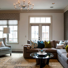 Contemporary Living Room by 2 Gays & a Design, LLC