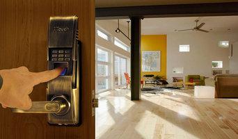 Antique Brass Biometric Lock for Open Loft