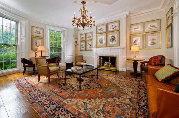 American Traditional Living Room by Landry & Arcari Rugs and Carpeting