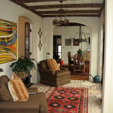 Mediterranean Living Room by James & Company Antique Timbers and Flooring