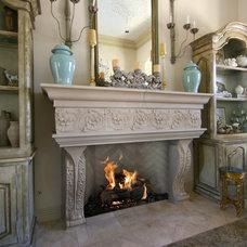 Mediterranean Living Room by DeVinci Cast Stone